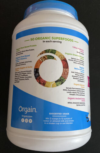 Orgain Organic Protein & Superfoods Powder, Vanilla Bean - 2.7 Lb, Exp 03/22 2