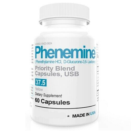 1 CT Phenemine Strong Best 37.5 375 Slimming Diet Pills  Adipex 37.5 P That Work 1