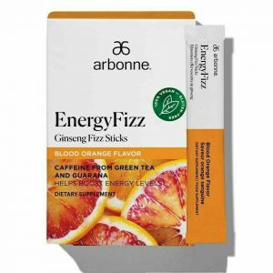 SALE ARBONNE Energy Fizz Sticks Ginseng Fizz Blood Orange Flavor 5-30 Stick Stks