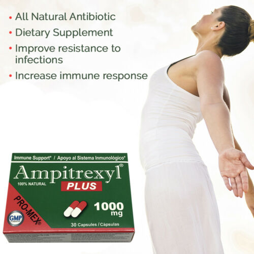 ProMex Ampitrexyl Plus. Boost Immune System. Natural Supplement 1000 mg, 30 Caps 4