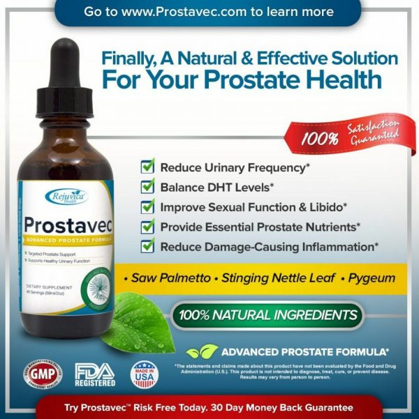 Prostavec Prostate Support Supplement - #1 Advanced Liquid Prostate Support 1