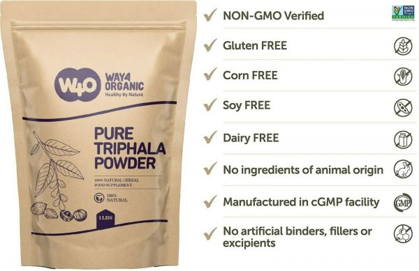 Triphala Powder 16 Oz(1 Pound), Made from Deseeded Amla, Haritaki & Bibhitaki 4