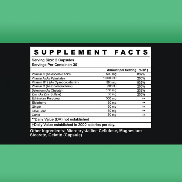 Everyday Wellness: VITAMIN C  ZINC  ELDERBERRY ECHINACEA 12 in 1 IMMUNE SUPPORT 2