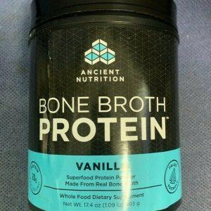 Ancient Nutrition Bone Broth Protein VANILLA Paleo Friendly 17.4 oz BB 10/21+