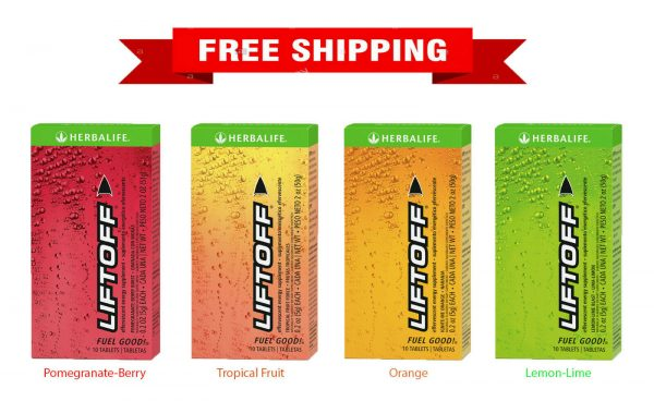 Herbalife Liftoff All Flavor 10 tablets  NEW SEALED - FREE SHIPPING !!!