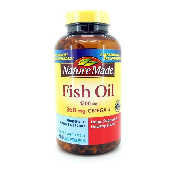 Nature Made Fish Oil 1200 mg OMEGA-3 360mg 200 Softgels