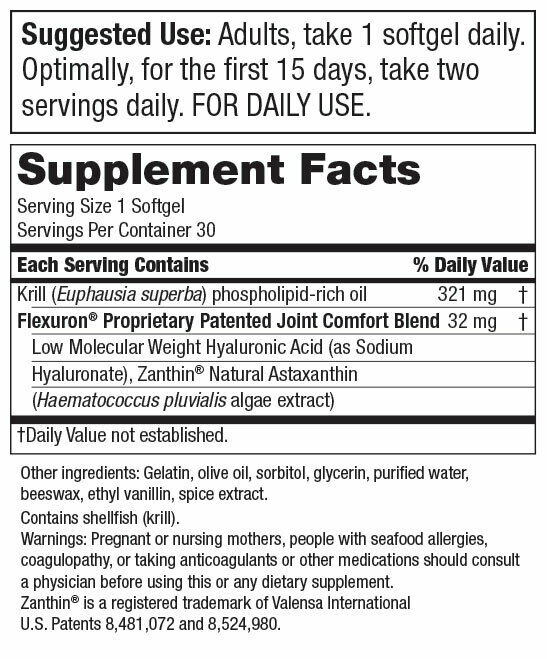 Flexuron Joint Formula by Purity Products 2X30gels  Astaxanthin/Hyaluronic Acid 2