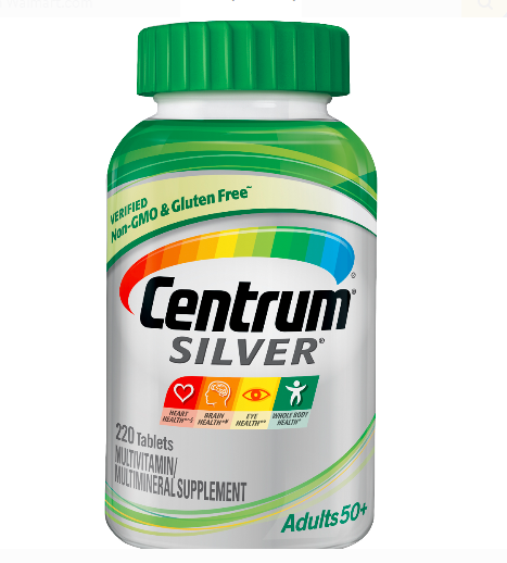 Centrum Silver Multivitamin Supplement Adult 50+ 220 Tablets NEW Exp 09/22