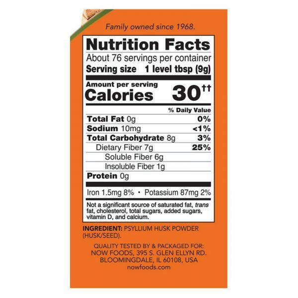NOW Foods Psyllium Husk Powder, 24 oz. 1