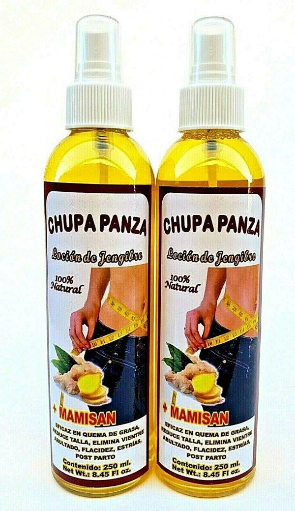 2 Packs CHUPA PANZA SPRAY + Ginger + MAMISAN + LOCION + Jengibre 4