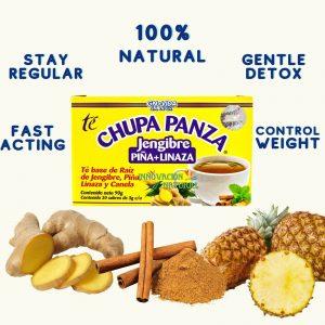 2 PACK Chupa Panza Detox Ginger Tea 60 Day Supply Te Chupa Pansa de Jenjibre... 1