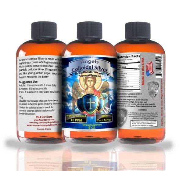 Colloidal Silver 16 oz BEST NANO 10ppm Antibiotic Colds Flue pets 1