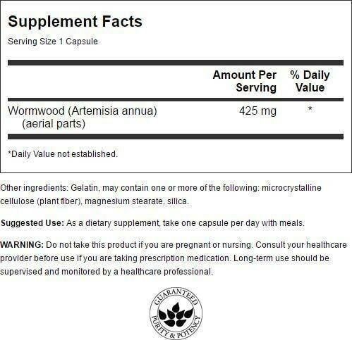 Swanson Full-Spectrum Wormwood (Artemisinin) Capsules, 425 mg, 90 Count 1