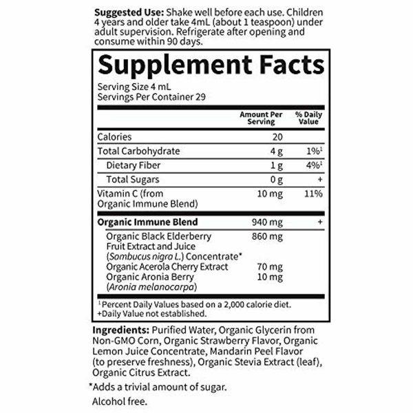 Garden of Life Kids Organic Elderberry Immune Syrup with Vitamin c for Immune Su 5