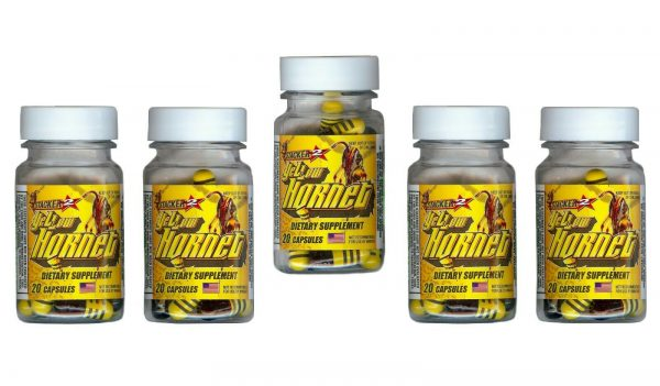 Yellow Hornets Weight loss & Energy Supplement 100ct 5x20ct Bottles Exp.12/2023 1