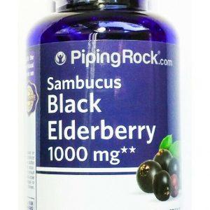 180 Capsule Black Elderberry 1000mg 64:1 Extract Sambucus Nigra Fruit Pill
