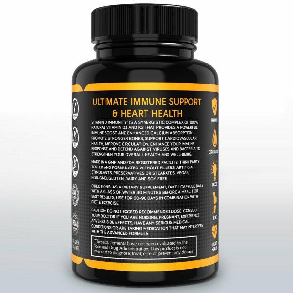 Vitamin D Immune Booster Vitamin D3 Complex 10,000 IU Supplement 3