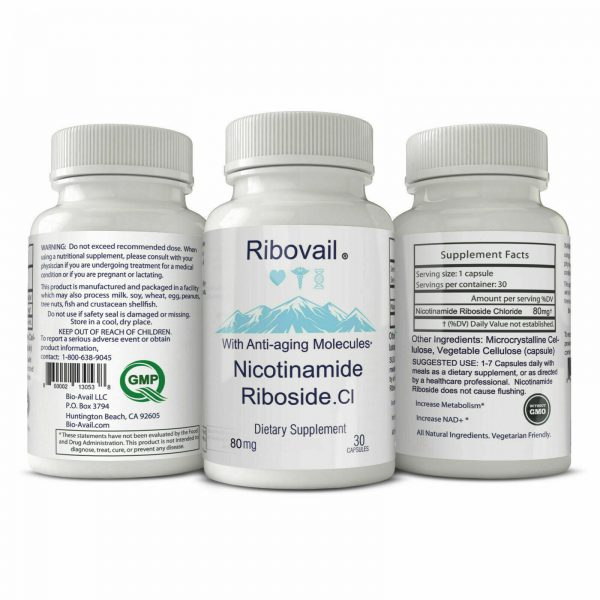 NAD+ Cell Regenerator 80 mg  Compare to Life Extension  Nicotinamide Riboside