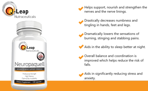 NEUROPAQUELL Clinical Strength Neuropathy Pain Relief Adv Nerve Support Formula 2