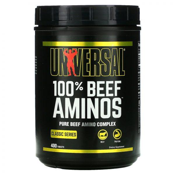 100% Beef Aminos, 400 Tablets
