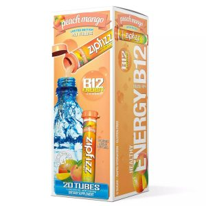 ZipFizz Healthy Energy Peach Mango Flavor 20 Tubes