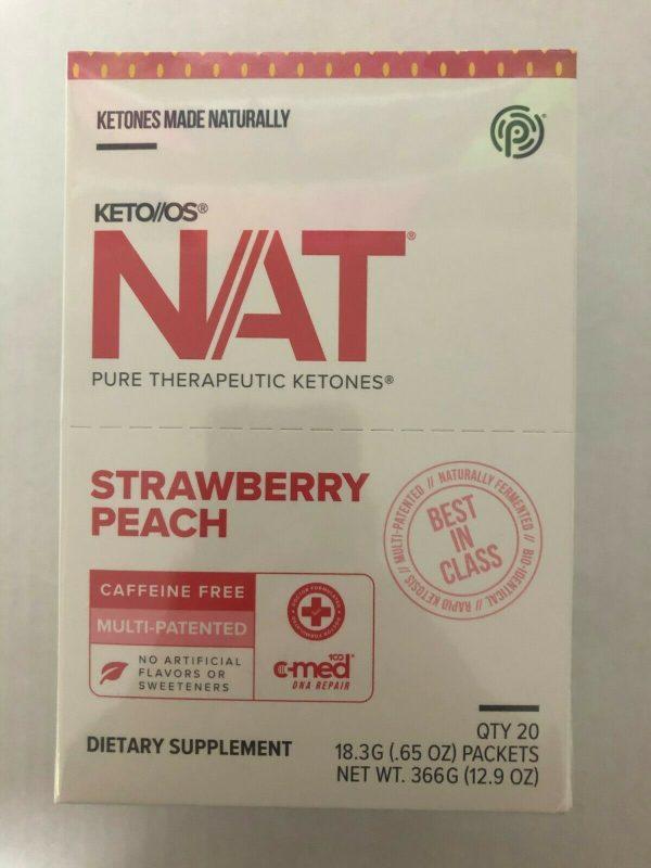 Pruvit Keto OS Nat Strawberry Peach (Charged) 5, 10 & 20 Packs  FREE SHIPPING 5