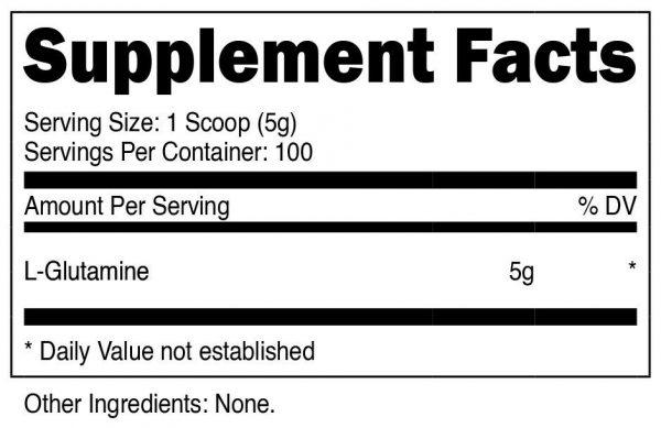 Nutricost Pure L-Glutamine Powder 500G - 100 Servings, Non-GMO & Gluten Free 1