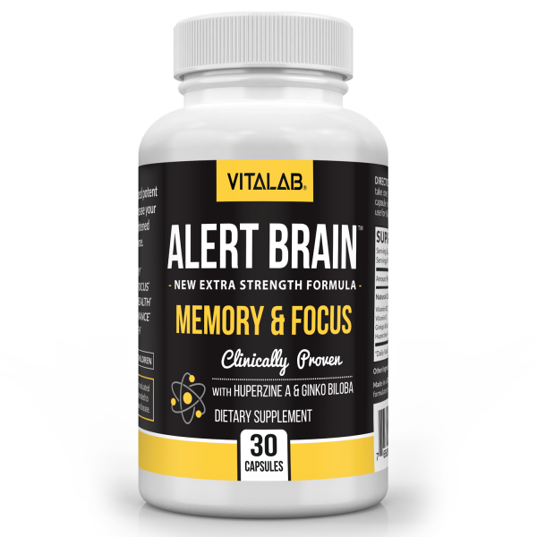 Alert Brain™ Memory & Focus Booster Brain Supplement Advanced Nootropic 1