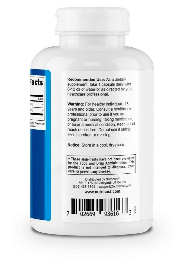 Nutricost Betaine HCl + Pepsin 750mg, 240 Capsules - Gluten Free & Non-GMO 3