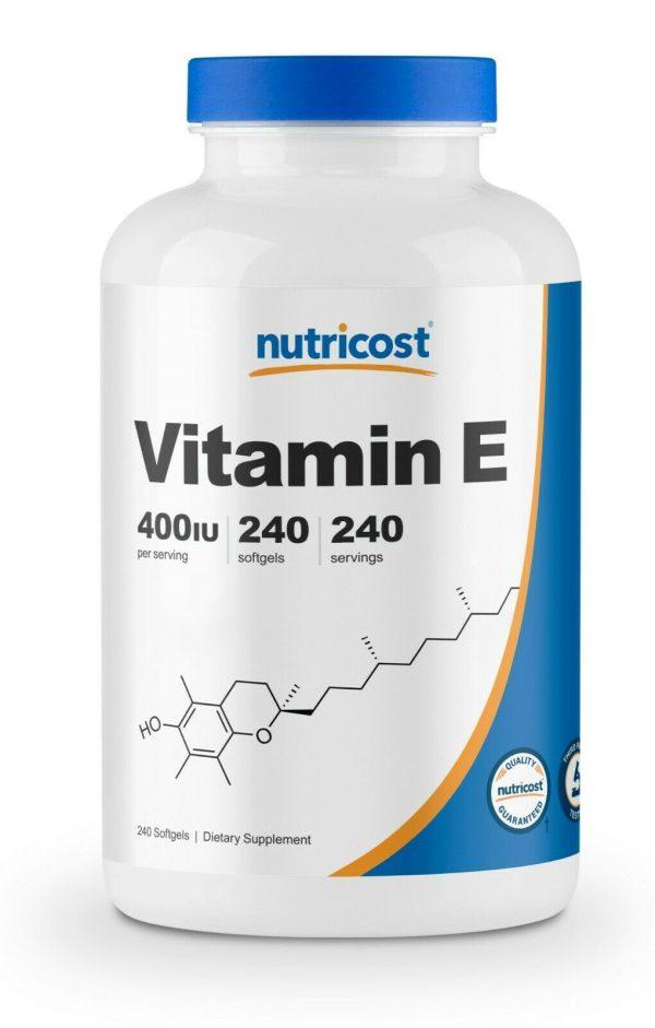 Nutricost Vitamin E 400 IU - 240 Soft Gel Capsules