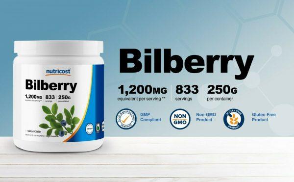 Nutricost Bilberry Powder 250 Grams - Gluten Free and Non-GMO  2