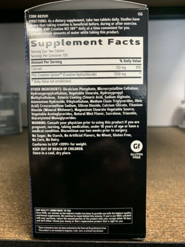 GNC AMP Creatine HCl 189 240 Tablets Fast Free Shipping  1