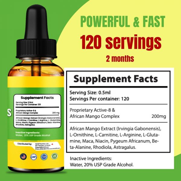 Belly Fat Burner Drops to Lose Stomach Fat - Weight Loss Supplement, Men & Women 5