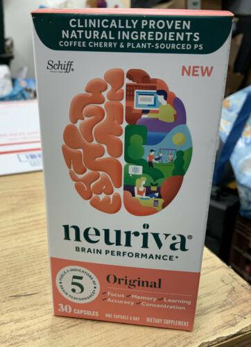Schiff Neuriva Brain Performance Original Focus Memory 30 Caps Sealed Exp 9/2022