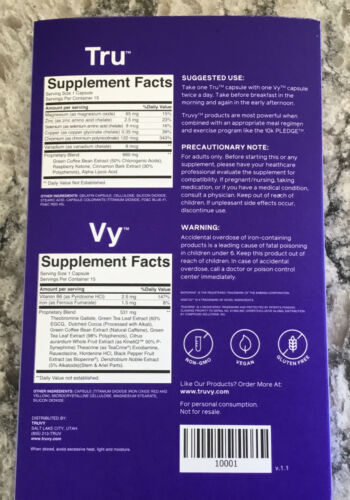 Truvy 7 Day Experience Kit ~ New ~ Sealed ~ 30 Capsules 3