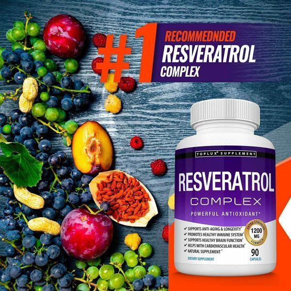 Resveratrol Maximum 1200 MG Strength Natural (90 CAPSULES) AntiAging Antioxidant 4