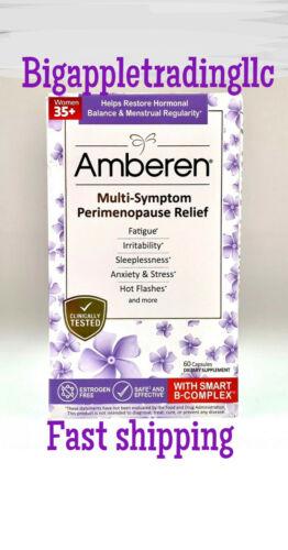 Amberen Multi-Symptom Perimenopause Relief Supplement, 60 Capsules Exp 2022