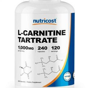 Nutricost L-Carnitine Tartrate Capsules (240 Caps) - 1 Gram per Serving