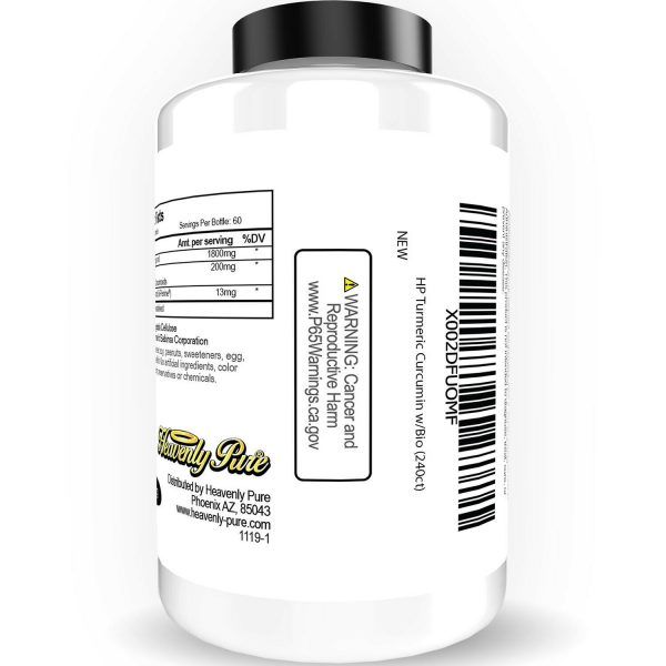 Turmeric Curcumin 2000 mg High Absorption Extra Strength Vegan Capsules 240 Ct 6