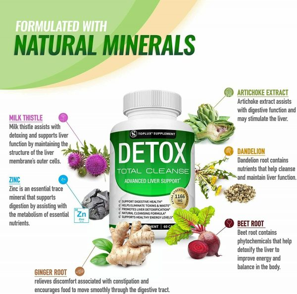 Liver Cleanse Detox & Repair Formula +22 Herbs Support 5 Day Fast-Acting DETOX 4