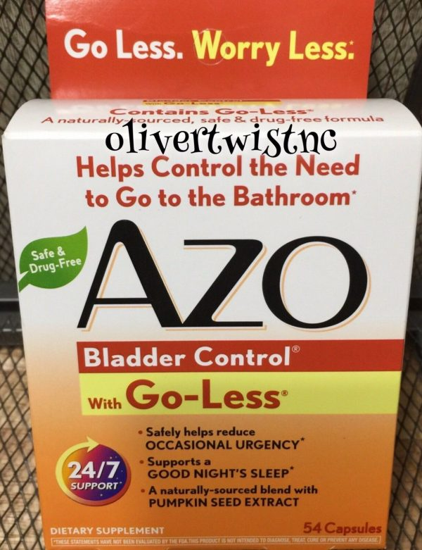 AZO Bladder Control With Go-Less 54 CT Capsules Expires FEBRUARY 2022  #0025  1