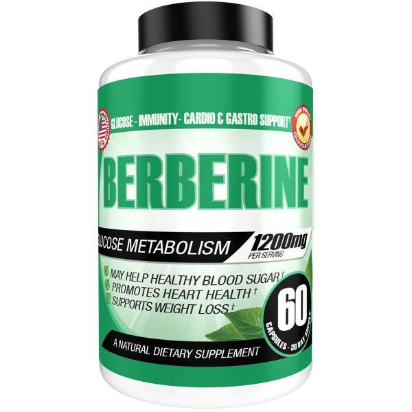 Berberine HCL 1200mg Glucose Metabolism Health Cholesterol Blood Sugar Support 4