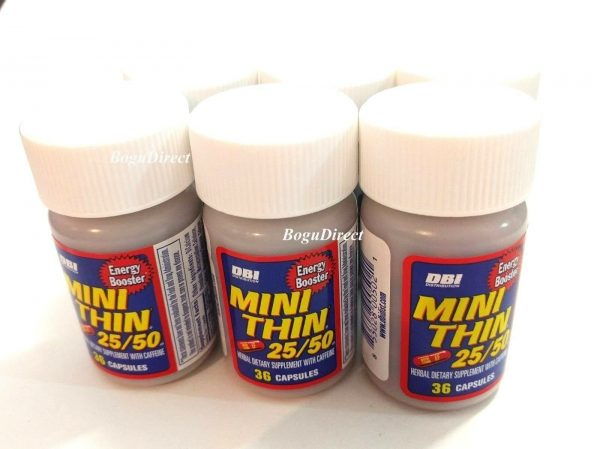 4 x 30ct BOTTLES MINI THIN 25/50 EF ENERGY BOOSTER ( 120 ) PILLS