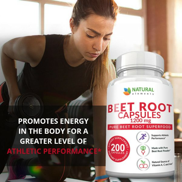 Organic Beet Root Capsules - 1200mg per serving - 200 Capsules - 3 Month Supply 5