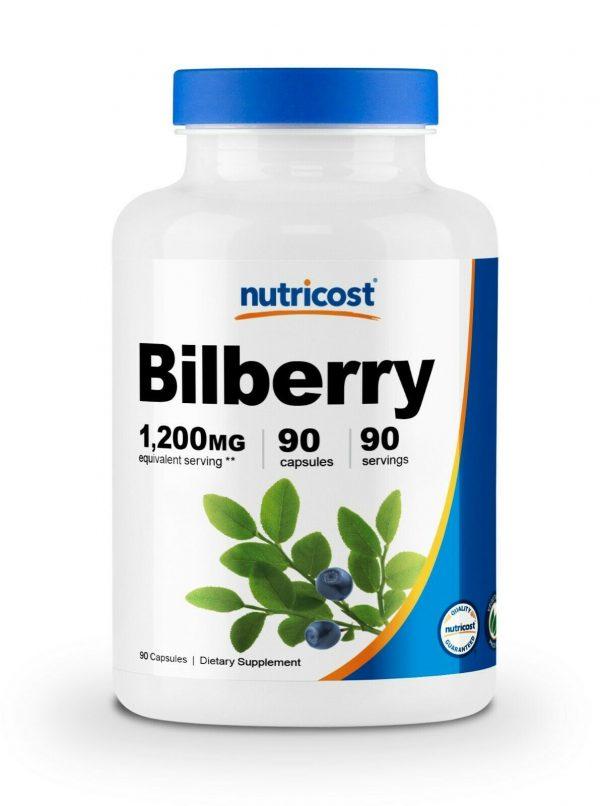 Nutricost Bilberry Capsules 1200mg (90 Vegetarian Capsules)