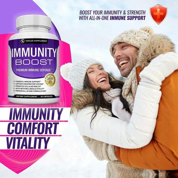 PREMIUM Immune System Booster (180 CAPSULE) Vitamin C +Zinc+Elderberry+Echinacea 6