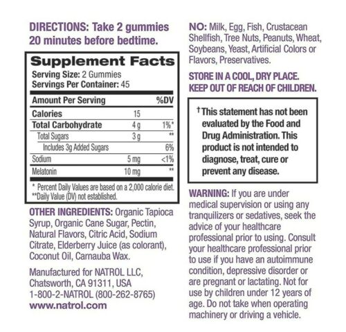 Natrol Melatonin 10mg Gummies.Strawberry Flavor-90ct(1pack).Fast Free Shipping!! 2