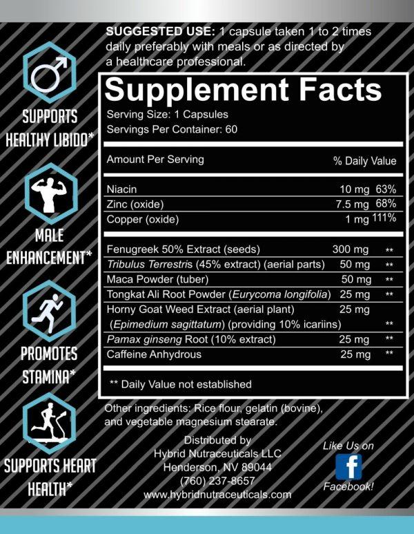 TestdroGEN Testosterone Booster, Estrogen Blocker, Enhance Libido, Longjack Maca 3