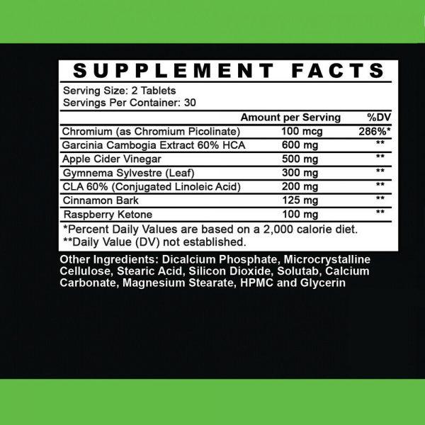 Weight Loss Garcinia Cambogia w/ Apple Cider Vinegar & CLA, ACV Fat Burner Pills 4