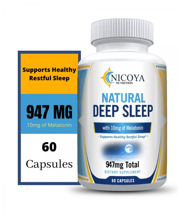 Natural Deep Sleep Supplement - Melatonin 10 mg, Sleep Aid - Deeper Nights Rest 4